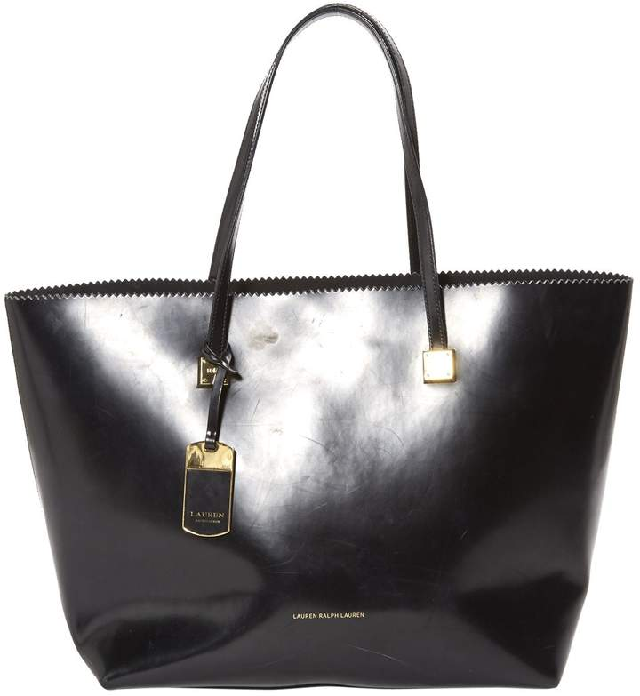 Lauren Ralph Lauren Black Leather Handbag