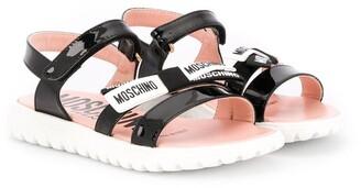 MOSCHINO BAMBINO Logo Touch-Strap Sandals