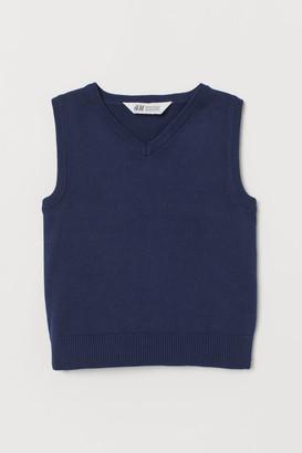 H&M Cotton Slipover Vest - Blue