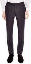 Sandro Notch Micro Check Slim Fit Trousers