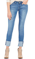 YMI Jeanswear Luxe Woven Stretch Skinny Cuffed Ankle Jeans