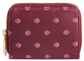 Merona Women's Faux Leather Wallet with Polka Dots and Zip Closure Sea Cascade