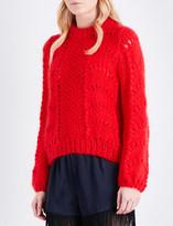 Ganni Julliard wool and mohair-blend jumper