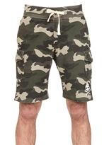 Hydrogen Cotton Piquet Camouflage Cargo Shorts