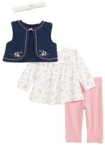 Little Me Infant Girl's Vest, Tee, Leggings & Headband Set