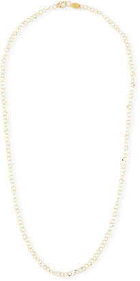"""Jude Frances 18k Gold Hammered Circle Chain Necklace, 18""""L"""