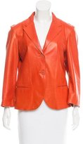Jil Sander Notch-Collar Leather Jacket