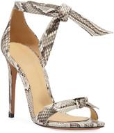 Alexandre Birman Clarita Tie Python Sandals