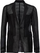 Rick Owens knitted blazer - men - Silk/Linen/Flax - 52