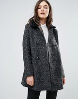 Girls On Film Coat With Faux Fur Trim