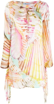 Blumarine Abstract Print Shift Dress