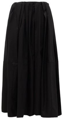 KHAITE Meryl Pleated-waist Cotton Maxi Skirt - Womens - Black