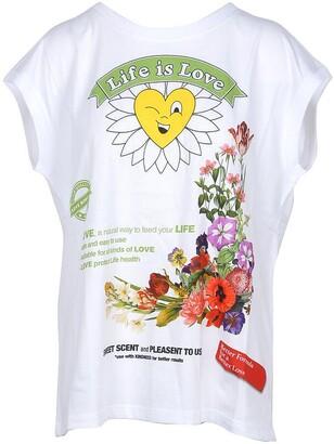Love Moschino Life is Love White Cotton Women's T-Shirt