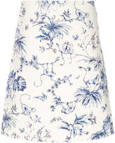 RED Valentino Monkey print a-line skirt