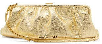Balenciaga Cloud Metallic-leather Cross-body Bag - Gold
