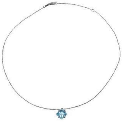 Damiani Bliss by 'Square' 18K Gold Diamond Topaz Necklace