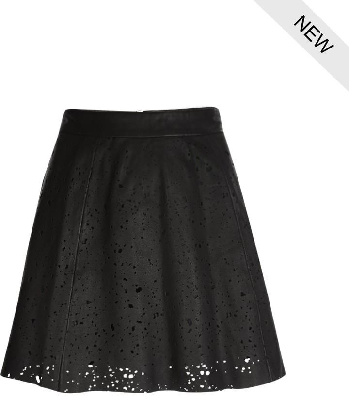 AllSaints Sierra Leather Skirt