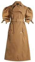 Simone Rocha Short-sleeved gabardine trench coat