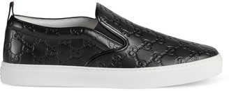 Gucci Men's Signature slip-on sneaker