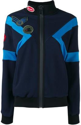 Mr & Mrs Italy contrast panel zipped sweatshirt