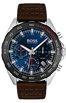 HUGO BOSS Men's Intensity Chronographic Leather-Strap Watch