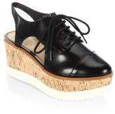 Schutz Amellya Leather Flatform Sneakers