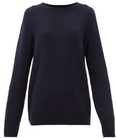 The Row Sibel Wool-blend Sweater - Womens - Navy
