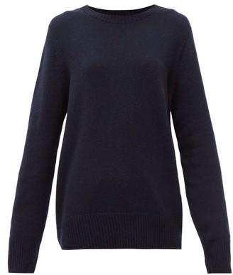 The Row Sibel Wool Blend Sweater - Womens - Navy