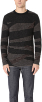 Billy Reid Birch Stripe Crew Sweater