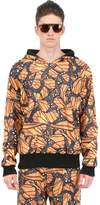 Der Metropol Hooded Butterfly Print Techno Sweatshirt
