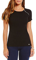 Nygard Collection Peter Nygard Performance Form Fitted Tee