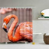 Flamingo Shower Curtain Quiet Flamingo Bird Featured Shower Curtain