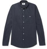 NN07 - Derek Slim-Fit Button-Down Collar Cotton-Flannel Shirt