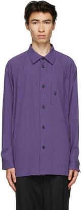 Issey Miyake Purple Cotton Drip Shirt