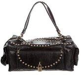 Luella Studded Snakeskin Shoulder Bag