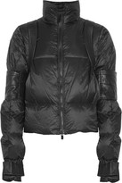 Sacai Leather-trimmed Quilted Shell Down Jacket - Black