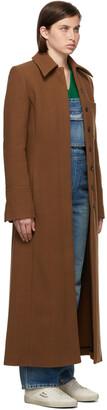 VVB Brown Brushed Teddy Wool Coat