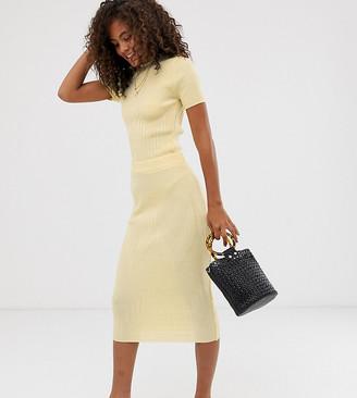Asos DESIGN Tall co-ord knitted midi skirt