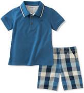 Calvin Klein 2-Pc. Cotton Polo & Shorts Set, Toddler & Little Boys (2T-7)