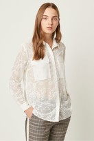 French Connection Cornelia Lace Embroidered Shirt