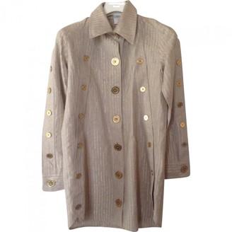 JC de CASTELBAJAC Beige Linen Jacket for Women Vintage