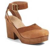 Free People Women's 'Walk This Way' Ankle Strap Clog Sandal