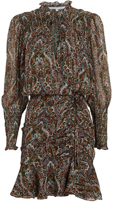 Veronica Beard Armeria Lurex Paisley Mini Dress