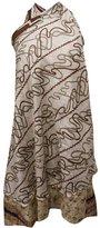 ibaexports Magic Wrap Skirt Garden Silk Vintage Boho Dress Plus Size Long Tube Sarong