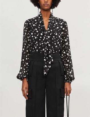 Ted Baker Polka dot-print crepe blouse