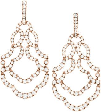 Hearts On Fire 18K Rose Gold 6.55 Ct. Tw. Diamond Lorelei Chandelier Earrings