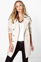 Boohoo Boutique Beatrice Bonded Trench