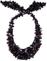 Marni Embellished Mesh Necklace
