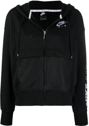 Nike Logo-Embroidered Zip-Up Hoodie
