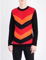 Balmain Crochet-knit cotton jumper
